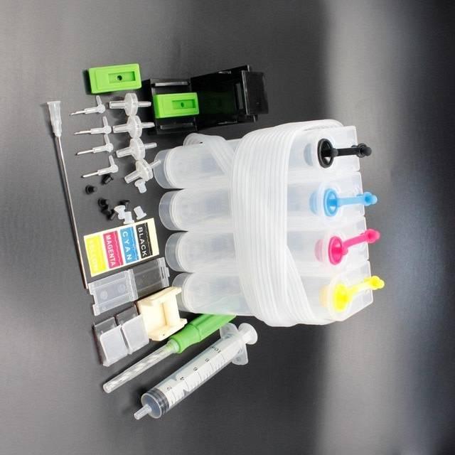 4 farver universal CIS til Canon – DIY CIS til HP med bor og sugeværktøj og alt tilbehør